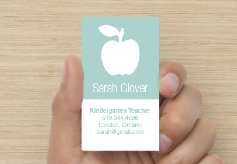 Teacher Business Card Modern